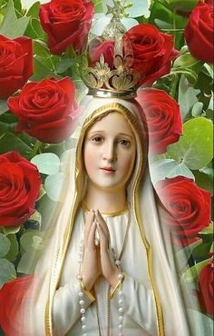 Mary Jesus Mother, Blessed Mother Mary, Mary And Jesus, Blessed Virgin Mary, Jesus And Mary Pictures, Pictures Of Christ, Jesus Christ Images, Fatima Prayer, Our Father In Heaven