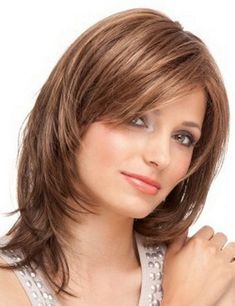 Blonde Straight Classy Remy Human Hair Wigs are hot sale at WigWay Official Site. Modern styles, high quality human hair wigs are available online! Medium Layered Hair, Medium Hair Cuts, Medium Hair Styles, Curly Hair Styles, Short Hairstyles For Women, Wig Hairstyles, Straight Hairstyles, Brown Hairstyles, Ladies Hairstyles