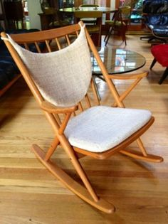 Los Angeles: Awesome Danish Modern Teak Rocking Chair by Bramin Mid Century Eames MCM $650 - http://furnishlyst.com/listings/1029700
