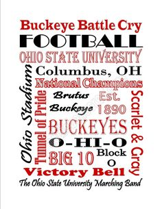 Instant Download Printable Ohio State by AddieBelleCreations