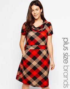 Praslin Plus Size Check Dress