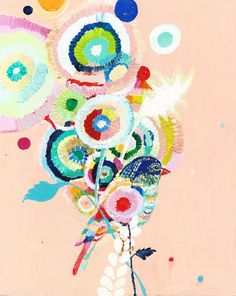 Paint a Bird a Day - artwork by Austin artist Starla Halfmann. Check out her other birds! Via A Rowan Tree