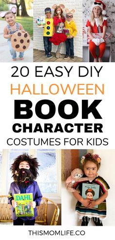 20 Halloween Book Character Costumes for Kids Halloween Book Character Costumes that you can DIY. I love these Halloween costumes for kids because it connects dress-up and books. Click through to find a unique Halloween costume idea for your kid. Children's Book Characters Costumes, Easy Book Character Costumes, Character Day Ideas, Book Characters Dress Up, Character Dress Up, Character Halloween Costumes, Teacher Halloween Costumes, Book Costumes, Storybook Characters