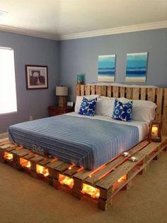 pallet lighted bed