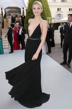 lily-donaldson-saint-laurent-cannes-amfar-gala-best-dressed-style-red-carpet