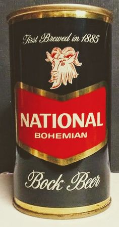 NATIONAL BOHEMIAN Bock Beer , Baltimore MD ~ 1958 Beer 101, All Beer, Best Beer, Beer Advertisement, Beer Can Collection, Old Beer Cans, Beer Quotes, Beers Of The World, Beer Brands
