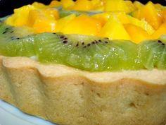 Torta de manga e kiwi