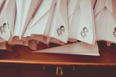 How fun are these personalized paper planes for guests to throw on the bride and grooms departure :)