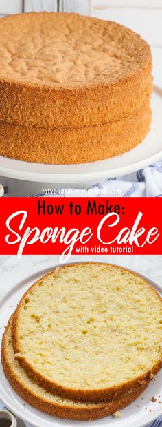 In-depth video tutorial with step-by-step instructions for making the perfect sponge cake, every single time! This easy cake recipe is great for any cake creation! Easy Sponge Cake Recipe, Sponge Cake Recipes, Easy Cake Recipes, Baking Recipes, Dessert Recipes, Desserts, Best Vanilla Sponge Cake Recipe, Baking Ideas, Vanilla Cake
