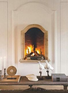 Raised fireplace