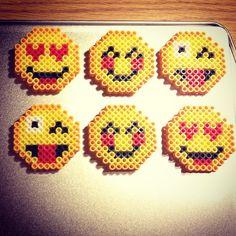Emoji magnets perler beads by ashleyw2014