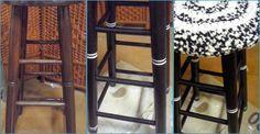 Un taburete de barra, antes y después de la transformación