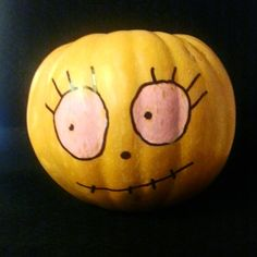pintando calabazas por Halloween...   DibujosdeNube
