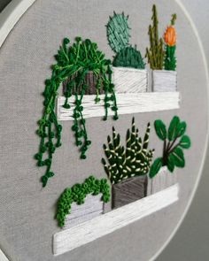 Embroidery by Andrea Beiko on Etsy More like this Diy Embroidery Patterns, Basic Embroidery Stitches, Hand Embroidery Patterns, Embroidery Techniques, Cross Stitch Embroidery, Contemporary Embroidery, Idee Diy, Creations, Illustrations