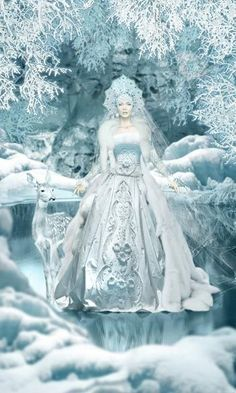 So beautiful ❄💙❄ Russian Folk, Russian Art, Snow Queen, Ice Queen, Christmas Fairy, Vintage Christmas, Fantasy World, Fantasy Art, Fantasy Makeup