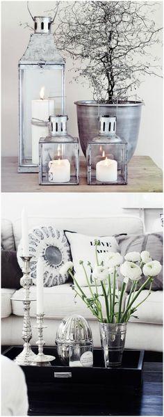Decorar con brillos, plata. www.momocca.com