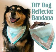 DIY Dog reflector bandana