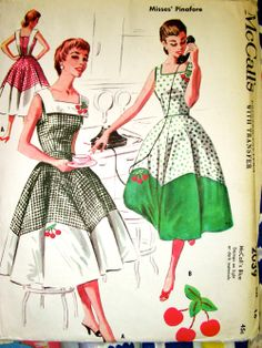 McCall's 2039 ©1956 Pinafore