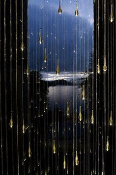 Rain by Bruce Munro- in the shower for lighting?
