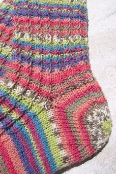 patrón de calcetín libre con puntera y talón idea de último momento estrella estrella