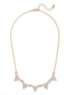 our tiny crystal bunting necklace is small but stunning! #BBWeddings #stylemepretty