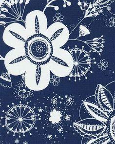 Flower Power Navy - Indoor/Outdoor | Online Discount Drapery Fabrics and Upholstery Fabric Superstore!