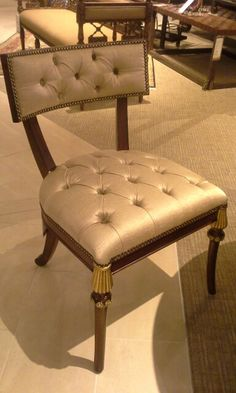 Tufted Side Chair. Maitland Smith, Vanity Bench, Side Chairs, Home Furnishings, Luxury, Furniture, Design, Home Decor, Style