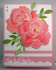 Aquarell-Rosen – Patty Bennet Technique Fifth Avenue Floral Source by pegswilson Watercolor Rose, Watercolor Cards, Paper Cards, Stamping Up, Blank Cards, Flower Cards, Greeting Cards Handmade, Homemade Cards, Stampin Up Cards