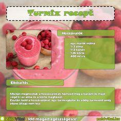 Málnás turmix recept #turmix #recept