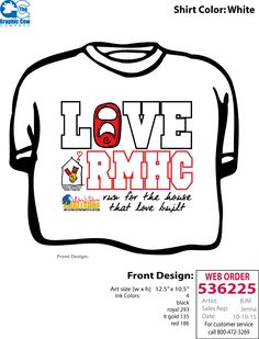 ADPi philanthropy t-shirt // Ronald McDonald House Charities