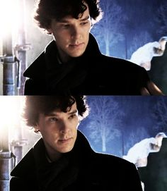 You can tell this is Benedict, not Sherlock. In costume, not in character. Acting talent - he has it in abundance.