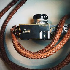 leicacraft: A beautifully Brassed MP and fantastic braided leather strap by @barton1972 #leicacraft #kameracraft #leica #leicacamera #leicaMP #cameraporn