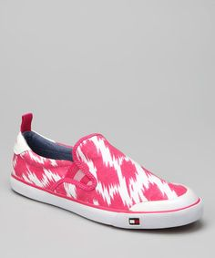 Take a look at this Hot Fuchsia Carlin Slip-On Sneaker by Tommy Hilfiger on #zulily today!