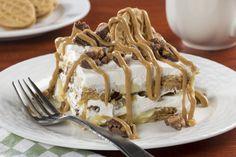 Peanut Butter Cookie Lasagna | MrFood.com