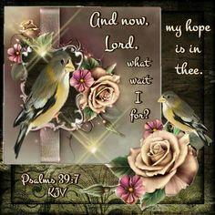Psalm 39:7 KJV