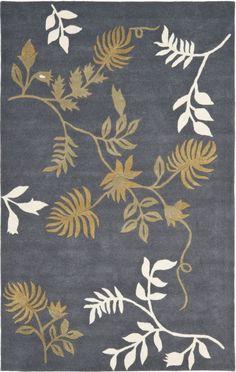 Contemporary Area Rug Rectangle Dark Grey Color Safavieh Soho Collection