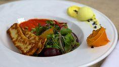 River mint soil and homemade haloumi | Haloumi recipes | SBS Food