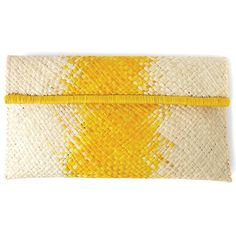 Ombre Woven Clutch Ariel Tan yellow, beige, womens accessories