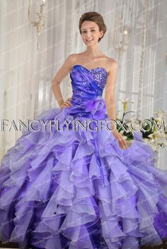 Colorful Royal Blue And Lavender Quinceanera Gown 2016