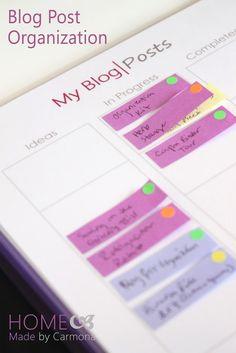 Blog Post Organization - Home Made By Carmona