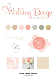 The Wedding Design Experience_Brand Board Design_Megan Martin Brands Name Card Design, Event Planning Business, Brand Board, Trendy Wedding, Creative Business, Wedding Designs, Martini, Color Schemes, Brand Design