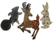 Woodland Animal Paper Dolls Deer Rabbit by teenytinyhappythings