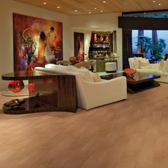 Check out this American Olean product: Photo features Terreno Teak 6 x 24 field tile in a random pattern on the floor.