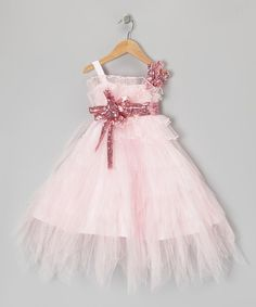 Take a look at this Pink Sequin Tier Dress - Toddler & Girls by Sweet Pattis on #zulily today!
