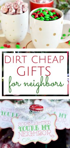 Inexpensive holiday gifts for neighbors or coworkers.  DIY Christmas, Christmas Gifts, Homemade Christmas Gifts, Cheap Christmas Gifts #ChristmasGifts #CheapGifts #GiftIdeas