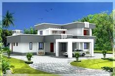 Discover the strengths of modern flat roof house plans. This might be the rightful answer to your dream of building a new home. Flat Roof House Designs, Flat Roof Design, 4 Bedroom House Designs, Free House Plans, Modern House Plans, Small House Plans, Free Plans, Style At Home, Roof Styles