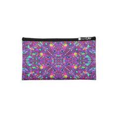 #Purple #Mandala Hippie Pattern #Cosmetics #Bag $39.35