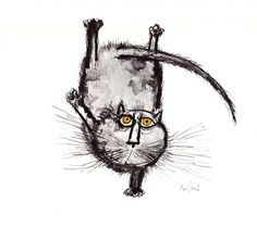 Exhibitionist Cat by Ronald Searle