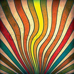 Stock image of 'Multicolor Sunbeams grunge background. A vintage poster.'