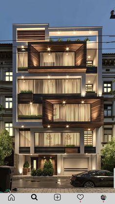 Modern House Facades, Modern Exterior House Designs, Modern Architecture House, Exterior Design, Architecture Design Concept, Architecture Building Design, Facade Design, House Outer Design, House Front Design